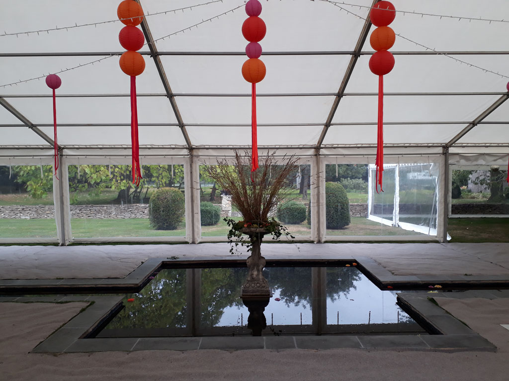 Marquee Erected Around Water Feature