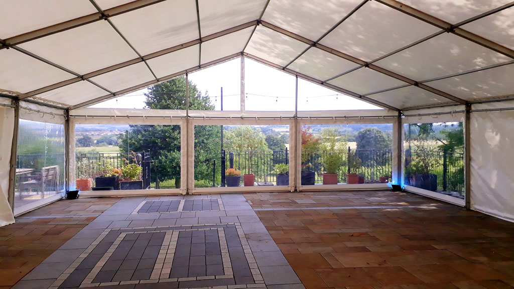 marquee with panoramic gable end