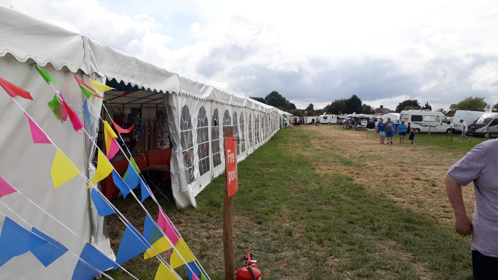 Marquee for Wiltshire Steam Rally